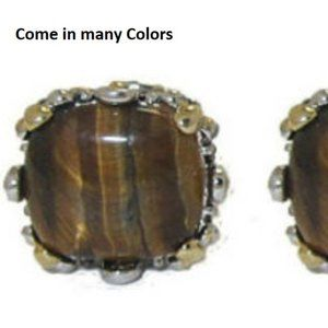 Cable Earrings Tiger Eye, Red, Black, Purple NWT